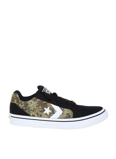 Converse Converse Siyah - Beyaz - Yeşil Lifestyle Ayakkabı Siyah